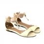 Sandália Flat Sapato Da Corte Pedras Resina