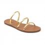 Sandália Flat Schutz 3 Tiras Dourado