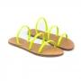 Sandália Flat Schutz 3 Tiras Verde Claro