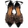 Sandália Rasteira Sapato Da Corte Bico Folha X