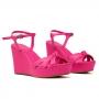 Sandália Sapato Da Corte Anabela Alta