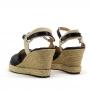 Sandália Sapato Da Corte Anabela Baixa
