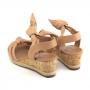 Sandália Sapato Da Corte Anabela Baixo Comfy
