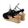Sandália Sapato Da Corte Anabela Baixo Decote V