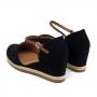 Sandália Sapato Da Corte Anabela Baixo Fechado Frente Atrás