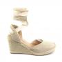 Sandália Sapato Da Corte Anabela Crochê