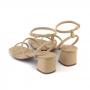 Sandália Sapato Da Corte Bico Quadrado Hotfix