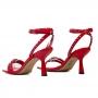 Sandalia Sapato Da Corte Bico Quadrado Spikes