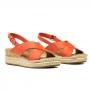 Sandalia Sapato Da Corte Flat Form Em X