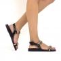 Sandália Sapato Da Corte Flat Tiras Comfy
