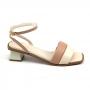 Sandália Sapato Da Corte Salto Baixo Tiras