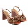 Sandália Sapato Da Corte Salto Bloco Alto