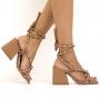 Sandália Sapato Da Corte Salto Bloco Alto Comfy