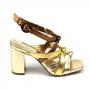 Sandália Sapato Da Corte Salto Bloco Alto Nós
