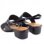 Sandália Sapato Da Corte Salto Bloco Baixo