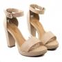 Sandália Sapato Da Corte Salto Bloco Com Pata