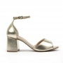 Sandália Sapato Da Corte Salto Bloco Médio