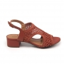 Sandália Sapato Da Corte Salto Bloco Médio Inteiro