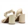 Sandália Sapato Da Corte Salto Bloco Médio Tira Transversal