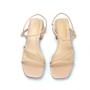 Sandália Sapato Da Corte Salto Bloco Pelada Nude
