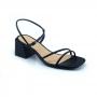 Sandália Sapato Da Corte Salto Bloco Pelada Preta