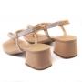 Sandália Sapato Da Corte Salto Bloco Strass Elástico Ajustável