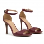 Sandália Sapato Da Corte Salto Médio Bico Quadrado