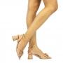 Sandalia Sapato Da Corte Salto Redondo Spike