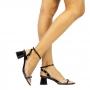 Sandalia Sapato Da Corte Salto Rendondo Vinil