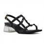 Sandalia Sapato Da Corte Spikes Salto Acrilico
