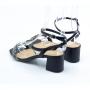 Sandália Sapato Da Corte Trança Strass