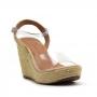Sandália Spadrille Sapato Da Corte Alta Vinil