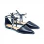Sapatilha Sapato Da Corte Amarrar Strass