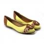 Sapatilha Sapato Da Corte Bico Fino Palha