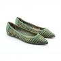 Sapatilha Sapato Da Corte Bico Fino Rafia