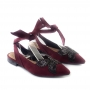 Sapatilha Sapato Da Corte Borboleta Amarrar