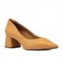 Scarpin Sapato Da Corte Bloco Baixo Bico Fino