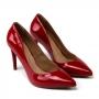 Scarpin Sapato Da Corte Salto Alto Fino Decote V