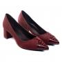 Scarpin Sapato Da Corte Salto Bloco Baixo