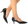 Scarpin Sapato Da Corte Salto Fino Baixo Tradicional