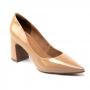 Scarpin Sapato Da Corte Salto Médio Bloco Bico Fino