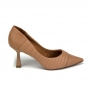 Scarpin Sapato Da Corte Salto Médio Taça Bico Fino Matelassê