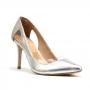 Scarpin Sapato Da Corte Vinil Vazado