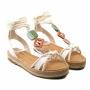 Sandália Flat Sapato Da Corte Amarração