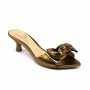 Tamanco Sapato Da Corte Salto Baixo Fino Laço