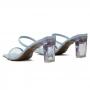 Tamanco Sapato Da Corte Salto Barra Acrilico