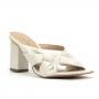 Tamanco Sapato Da Corte Salto Bloco Alto Bico Quadrado Comfy