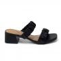 Tamanco Sapato Da Corte  Salto Bloco Médio Tiras Comfy