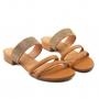 Tamanco Sapato Da Corte Salto Bloco Tiras Strass
