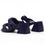 Tamanco Sapato Da Corte Salto Bloco Trança Comfy